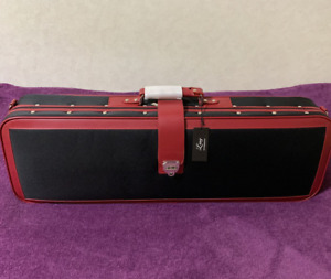 Rare Lang Red/Black Violin Case Size 4/4 with Strap Shipped from Japan