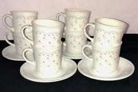 8 Corelle Corning*  MORNING DREAM* PINK TULIPS* CUPS & SAUCERS*