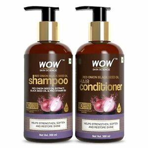 wow red onoin black seed oil hair shampoo 300ml and conditioner 300ml