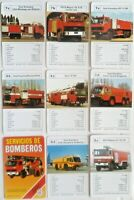 Fire Trucks of The World 33 Card Vintage Fire Trucks of The World Spanish Set