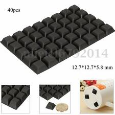 40Pcs Square Self-Adhesive Stick On Rubber Feet Bumper Door Buffer Stop Bumpons