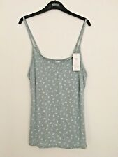 M&S SIZES 12 14 OR 20 MINT SOFT AND STRETCHY PYJAMA TOP FREE POST