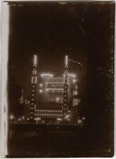 PHOTO ANCIENNE - VINTAGE SNAPSHOT - EXPOSITION UNIVERSELLE PARIS NUIT LUMIÈRE