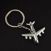 Creative 3D Simulation Model Airplane Plane Keychain Key Chain Ring Keyring Gift
