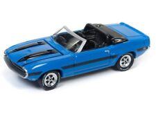 Johnny Lightning 1/64 1970 Shelby GT-500 Diecast Model Grabber Blue (JLCP7058)