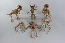 New listing Lot of 4 plastic Animal Skeleton Sculptures Rat Bird Bat Toy