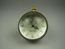 CHINESE OLD BRASS GLASS Pocket Watch BALL Clock diameter 60mm
