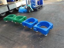 PLASTIC 4 WHEELED DOLLYS - USED FOR CARRYING INGREDIENTS BINS / BUCKETS