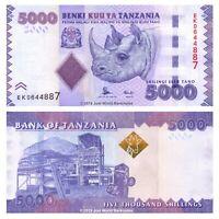 Tanzania 5000 Shillings ND (2015) P-43b Banknotes UNC