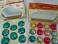 Vintage Shiny Brite Glass Christmas Ornaments Balls USA 2 Boxes 20 Ornaments