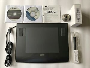 WACOM INTUOS 3 A5 USB Graphics Tablet+Pen+Holder+Mouse+Discs+Box PTZ-630 Working