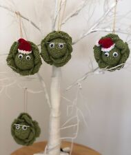 Christmas Sprout Bauble Table Decoration Knitting Pattern printed & posted