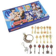 Fairy Tail of keys Lucy Celestial Spirit heart keychain Necklace Pendant 18pcs