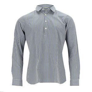 G.Inglese Shirt Cotton Blue/White/Green Polo-Knopfleiste (Previously