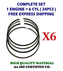 "6Cyl AR12098 Piston Rings Set for Cummins Engine NH220 5.125"" 130.175mm Standard"