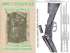 AT Fitchew, Gunmaker, Ramsgate (UK) 1882 Catalog