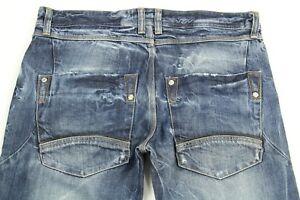 NWT Martin Box Men's Blue Jeans Distressed Boot Cut Denim Size 52 (US 36)