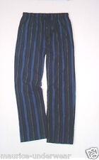 GÖTZBURG Schlafanzughose Gr. XXL/56 Popelin Pyjama-Hose Canvas blau gestreift