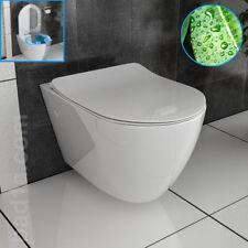 bad1a Spülrandlos WC Wand-Hänge WC mit Nanobeschichtung Rimless passt GEBERIT