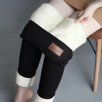 Women Winter Warm Lined Thermal Leggings Velvet Fleece Thick Pants Fashion New