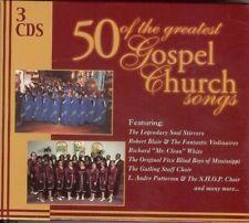 50 OF THE GREATEST GOSPEL CHURCH SONGS  /  3 CD BOX SET - VARIOUS ARTISTS