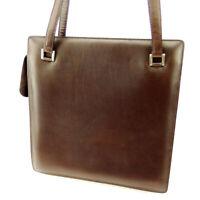 BOTTEGA VENETA Tote Bag Square Form Leather Auth used T17016
