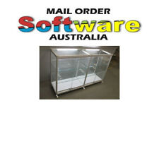 Glass Display Cabinet Counter Showcase Storage For Shop W1500xH960xD455 New