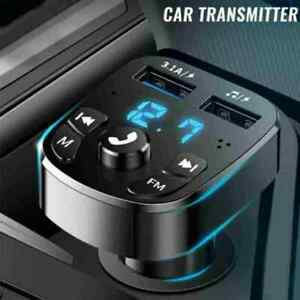 Car Wireless Bluetooth FM Transmitter MP3 Player USB Charger Adapter New