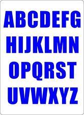 Kit 26 x Adesive sticker adesivo lettere auto moto alfabeto tunning blu