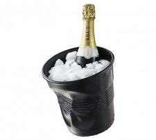 Revol Porcelain Black Crumple Ice Champagne Bucket Wine Bar Dinner Party 642568
