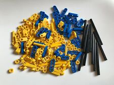 170 LEGO TECHNIC PARTS Cross Axle lever beam lot star wars technic blue yellow