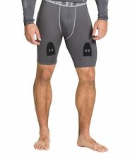 NWT $55 UNDER ARMOUR Hockey Grippy Short W/ Cup Shorts 239039 040 GREY Men's S