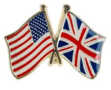 UK/USA - Union Jack and Stars & Stripes -  Friendship Lapel Pin HIGH QUALITY