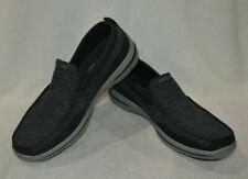 Skechers Men's Relaxed Fit Harper Moven Black/Grey Slip-On Shoes-Size 10.5 NWOB