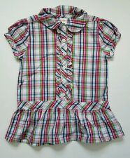 Gymboree Girls  Smart and Sweet Size 5 Plaid Shirt Button Up Pink Blue Collar