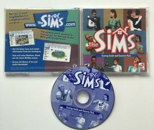 The Sims Strategy Guide + Character Pack EB Games Exclusive PC CD-ROM DISC RARE