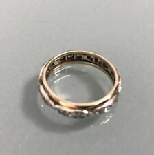 Women's 9ct Gold Vintage Eternity Ring Size M 1/2 Weight 2.71g