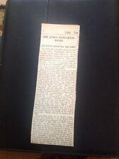 67-8  Ephemera 1935 Times Obituary Sir John Edwards Moss Erin Rower Record