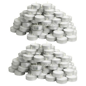 Tea Lights Candles Unscented White Wax T Light Tealight 4 Hours Pack of 50 /100
