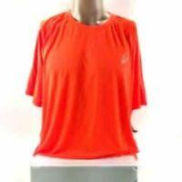 NWT Asics Men's Short Sleeve Orange Tee T-Shirt Size XL Style # MR2572 Crew Neck