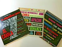 3  Al Caiola Guitar Vinyl LP Records - 1960-61 - Movie & TV Theme Songs
