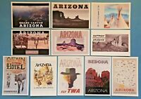 Set of 11 Brand New Arizona, United States Travel Poster Postcards, USA 51M