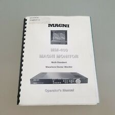 Magni Monitor Series MM-400 Monitoring System Operators Manual