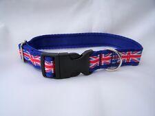 handmade union jack dog collar or collar & lead set small/medium/large dogs