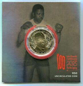 South Africa 2018 R50 Nelson Mandela Centenary Uncirculated Coin in Folder COA