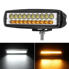 1PC 120W Amber/White Dual Color LED Work Light Spot Light For SUV 4WD Truck Jeep