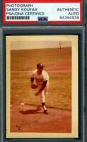 Sandy Koufax PSA DNA Coa Hand Signed Vintage Original 1960`s Photo Autograph