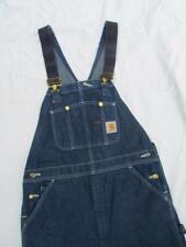 LKNU Mens Carhartt Denim 100% cotton Bib Overall Jeans dark wash 34/36 x 32