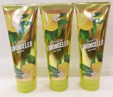 3 Sparkling Limoncello Ultra Shea Body Cream Bath & Body Works 8 Oz