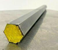 "Steel Hex Stock machine shop rod  bar 5//8/"" x 4-1//4/"" OAL .620 X 4.250 long 16mm"
